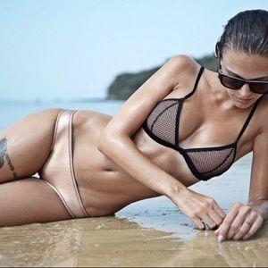 Other - Copper Neoprene Mesh Top Bikini